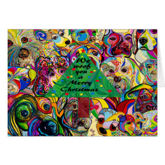 Wir SCHUSS Sie frohen Weihnachten Karte