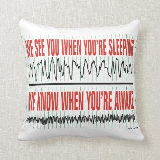 Wir sehen Sie, wenn Sie Schlafenkissen sind Kissen