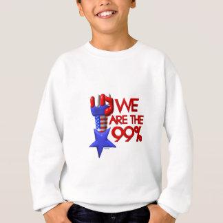 Wir sind 99% steigender Stern Sweatshirt