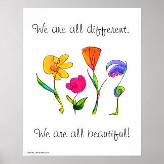 Wir sind alle unterschiedliches u. schönes poster