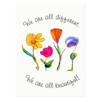 Wir sind alle unterschiedliches u. schönes postkarte