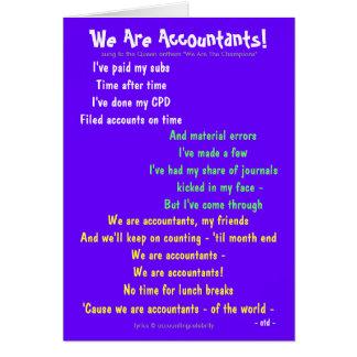 Wir sind Buchhalter! Doppelseitiges Karte