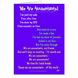 Wir sind Buchhalter! Doppelseitiges Grußkarte