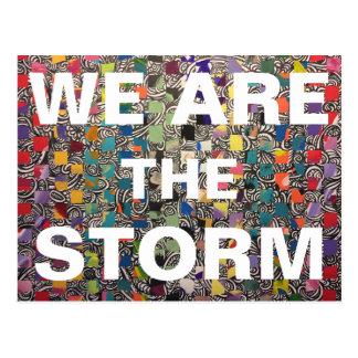 Wir sind der STURM danken Ihnen Postkarte
