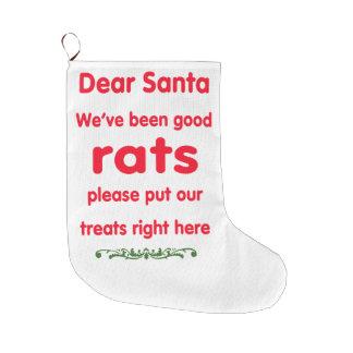 wir sind gute Ratten gewesen Große Weihnachtsstrümpfe