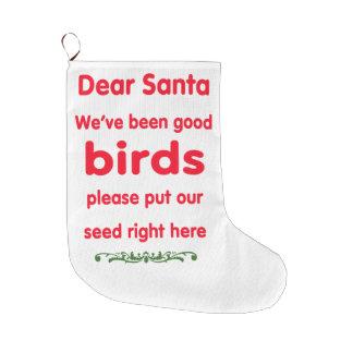 wir sind gute Vögel gewesen Große Weihnachtsstrümpfe