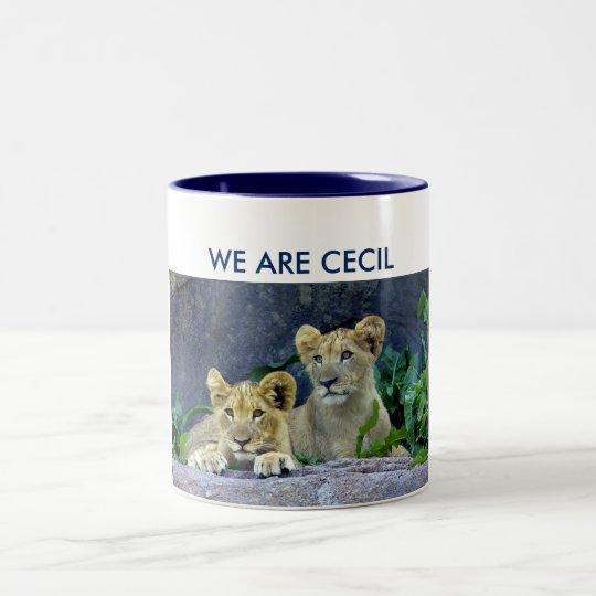 Wir sind Löwe CUB Cecils Cecils Zweifarbige Tasse