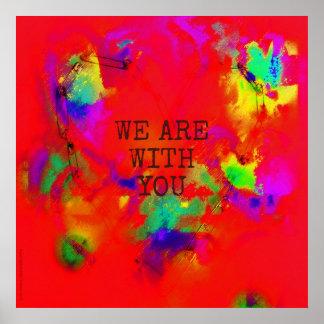 Wir sind mit Ihnen das abstrakte Poster