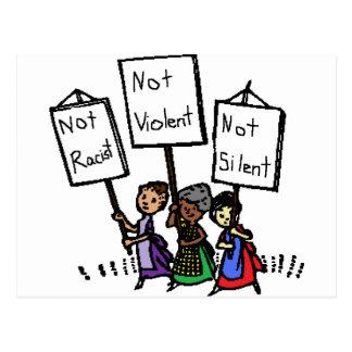 Wir sind nicht rassistisch still, heftig, oder! postkarten