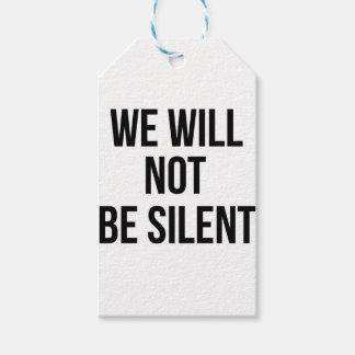 Wir sind nicht stiller - Ungerechtigkeit - Geschenkanhänger