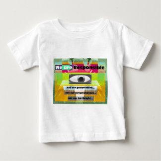 Wir sind nicht unsere Umstände verantwortlich Baby T-shirt