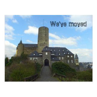Wir sind - Schlossmotivkarten umgezogen Postkarte