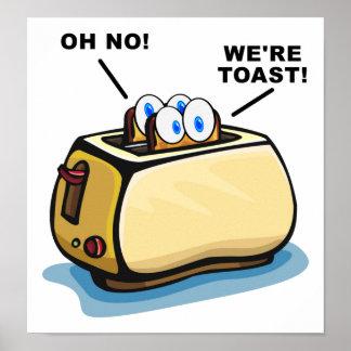 Wir sind Toast-Plakat Poster