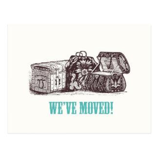 Wir sind umgezogen! Postkarten
