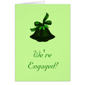 """""""Wir sind verlobt!"""" - (Bell mit Stechpalme) Karte"""
