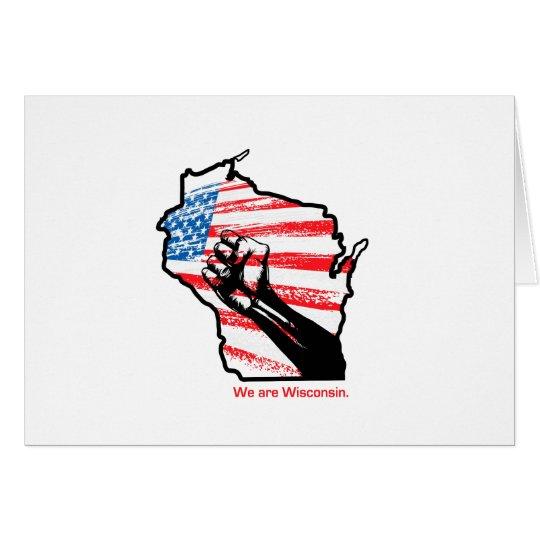 Wir sind Wisconsin Grußkarte