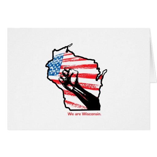 Wir sind Wisconsin Karte