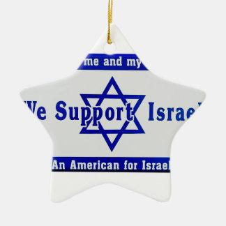 Wir stützen Israel Keramik Stern-Ornament
