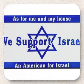 Wir stützen Israel Untersetzer