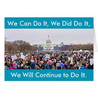 """""""Wir taten es"""" der März-Protest-Karte der Frauen Karte"""