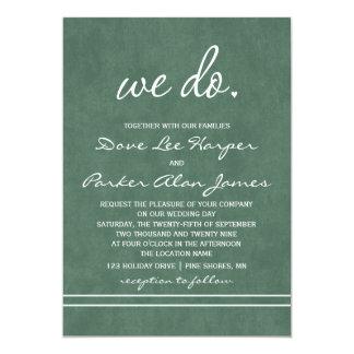 Wir tun Hochzeits-Einladungen │ Jäger-Grün Karte