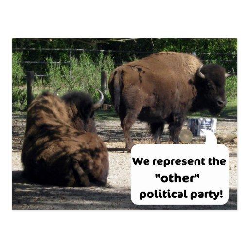 """Wir vertreten das """"andere"""" politische Party! Postkarte"""