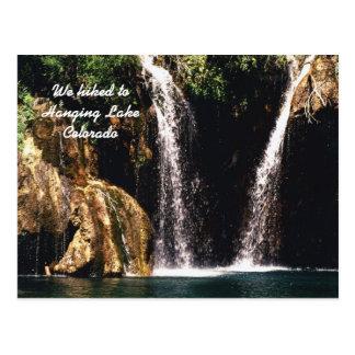Wir wanderten zu hängendem See, Colorado Postkarte