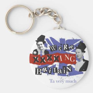 Wir xxxxing Großbritannien, ta sehr viel Standard Runder Schlüsselanhänger
