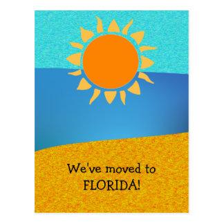 Wir zogen auf Florida-Adressenänderung um Postkarte