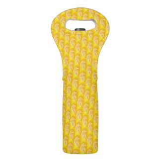 Wirbel auf gelber Wein-Tasche Weintasche