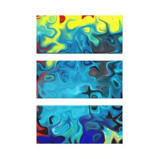 Wirbel flüssige bunte abstrakte 285 leinwanddruck