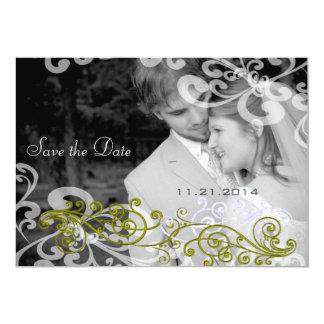 Wirbel Ihre Foto-Hochzeits-Einladung Karte