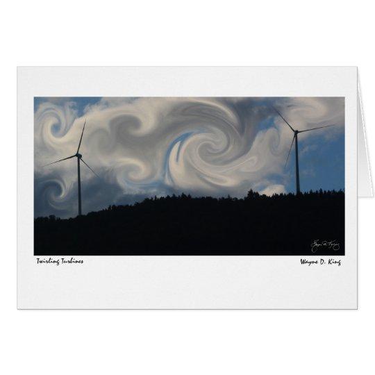 Wirbelnde Turbinen Grußkarte