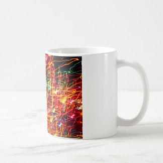 Wirbelndes Neonlicht-Glühen Kaffeetasse
