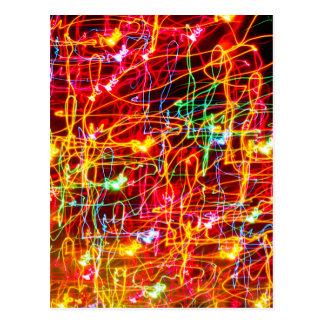 Wirbelndes Neonlicht-Glühen Postkarte