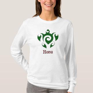 Wirble hawaiische grünes Seeschildkröte T-Shirt