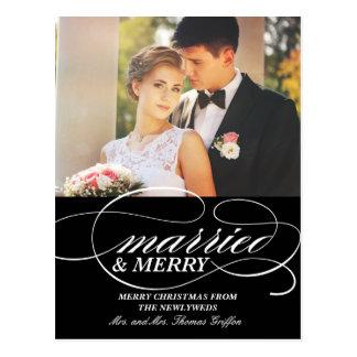Wirble verheiratete und fröhliche | postkarte