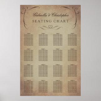 Wirble Vintage | Wedding Tabelle des Poster