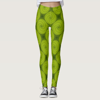 Wirbles grünes Muster Leggings