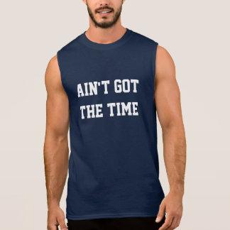 Wird der Zeit Sleeveless Muskel-Trägershirt nicht Ärmelloses Shirt