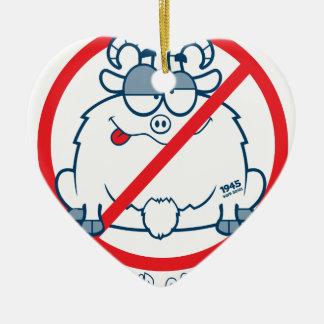 wirft Chicago-Ziegen-Shirt Keramik Ornament