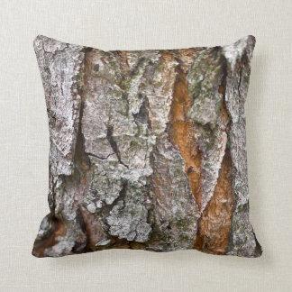 Wirkliche Baumrinde-Beschaffenheit Kissen
