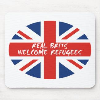 Wirkliche Brite-willkommene Flüchtlinge Mousepads