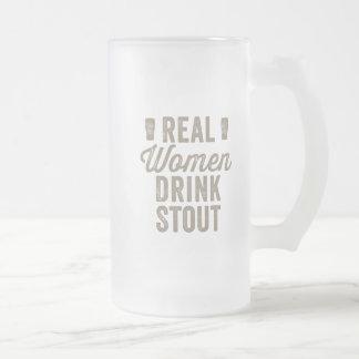 Wirkliche Frauen-Getränk Stout mattierter Stein Matte Glastasse