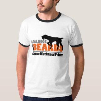 Wirkliche Hunde haben Bärte - deutschen T-Shirt