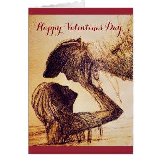 Wirkliche Liebe für den Tag des Valentines! Karte