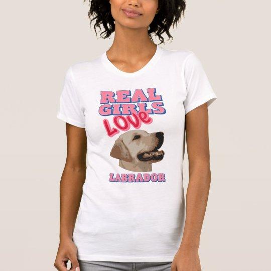 Wirkliche Mädchen-Liebe Labrador T-Shirt