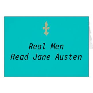 Wirkliche Männer… lasen Jane Austen Karte