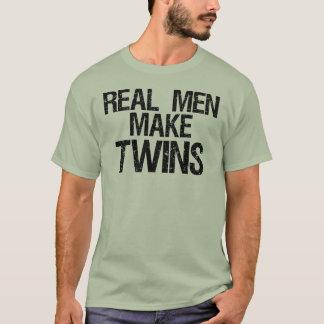 Wirkliche Männer machen Zwillinge T-Shirt