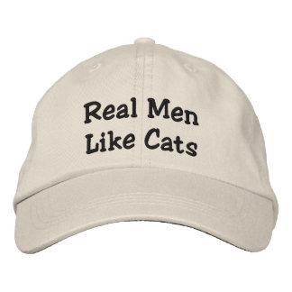Wirkliche Männer mögen Katzen Bestickte Kappen
